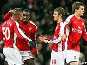 Arsenal - Wigan en Carling Cup