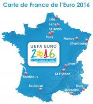 Carte France Euro 2016