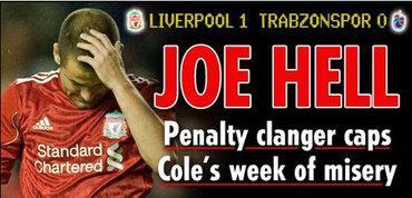 Joe Cole semaine de merde