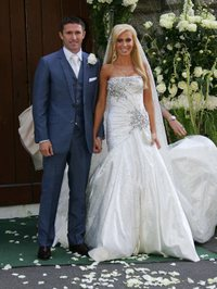 Robbie Keane wedding 070608