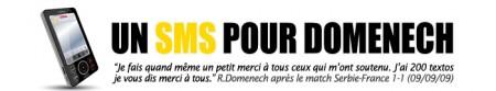 SMS pour Domenech