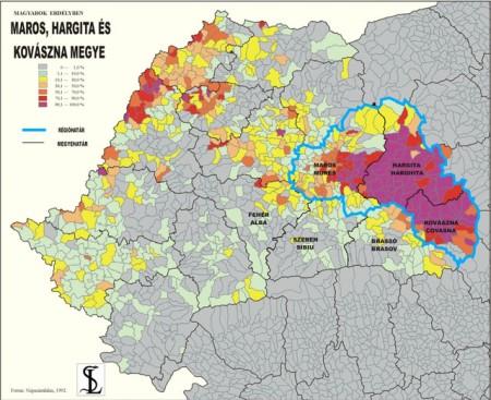 Carte minorité hongroise roumanie hu-lalaorg