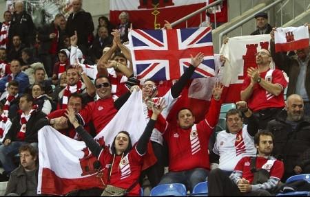 Supporters Gibraltar - Photo EPA/Luis Forra