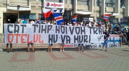 Supporters Otelul Galati bannière